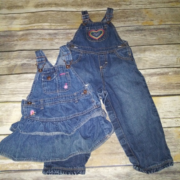 OshKosh B'gosh Other - Lot of Oshkosh B'Gosh 24 months-Overalls and dress